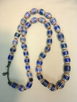 Beadology Iowa Blue Chevron Strand