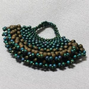 Beadology Iowa Class CRAW Beaded Fan Pendant
