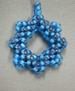 Beadology Iowa Class Cubed Right Angle Weave Pendant