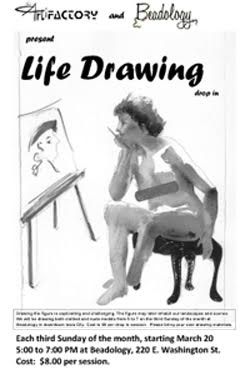 Beadology Iowa Class Life Drawing Poster