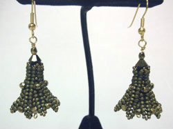 Beadology Iowa Herringbone Beaded Earrings