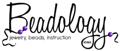 Beadology Iowa jewlery beads instruction logo