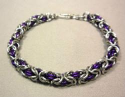 Beadology Iowa Classes Byzantine Chain Maille Bracelet