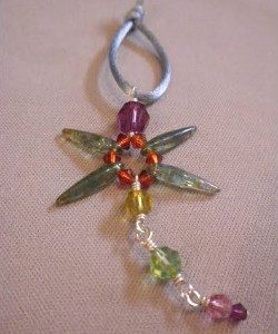 Beadology Iowa Classes Dragonfly Pendant