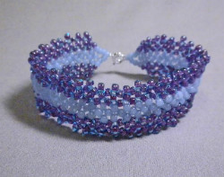 Beadology Iowa Classes Flat Right Angle Weave RAW Bracelet
