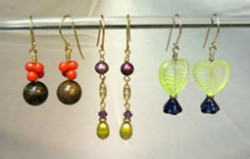 Beadology Iowa Classes Three Pairs of Earrings Introduction to Wirework