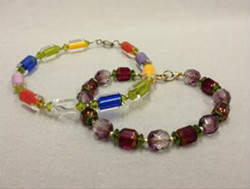 Beadology Iowa Classes Two Bracelets Introduction to Stringing