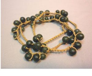 Crochet and Beaded Wrapped Bracelet/Necklace