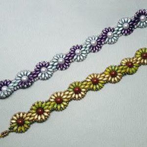 daisy-bracelet_superduos_swarovski_pearls_beadology-iowa