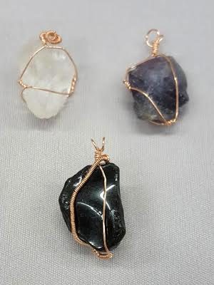 Wire Wrapping Stones through Kirkwood Community College Education Program