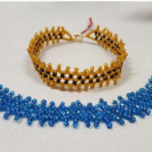 roaring-twenties_netted-beadwork_bracelet_Beadology-Iowa