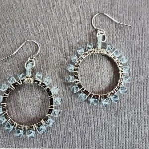 Wire Wrapped Earrings through Kirkwood Community College