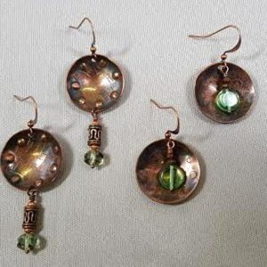 cupped-copper-earrings-metalwork-dapping_Beadology-Iowa