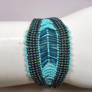 herringbone-cuff-bracelet_Beadology-Iowa