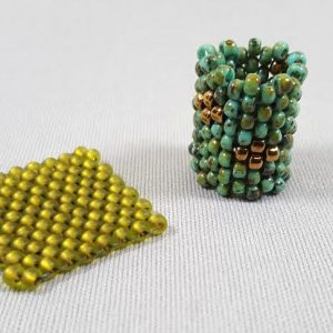 Flat and Tubular Peyote Stitch Samples
