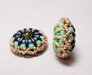 Gyrls Night Out:  Domed Crescent Beaded Bead