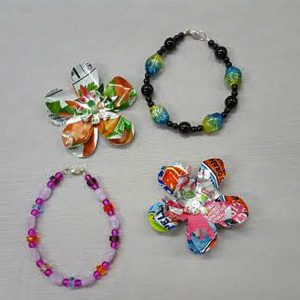 Summer Bead Camp--Make a Bracelet and Recycled Blooms