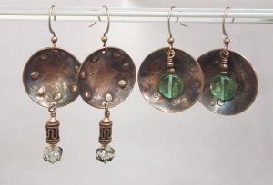 Cupped Copper Earrings