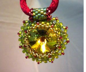 Bead Bezel a Swarovski Crystal
