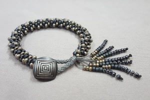 Kumihimo Bracelet with Button Closure