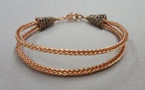 Double Braided Copper Wire Bracelet