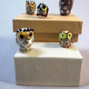 Glass Owl Beads:  What a Hoot!