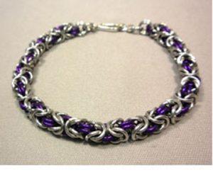 Byzantine Chain Maille Bracelet through Kirkwood Community College