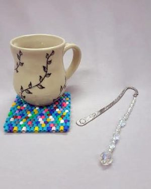 Summer Bead Camp:  Mug Rug & Beaded Bookmark