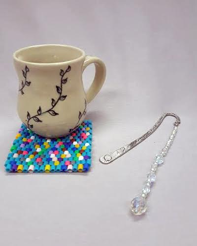 Spring-Bead-Camp_Mug-Rug_beaded-bookmark_Beadology-Iowa