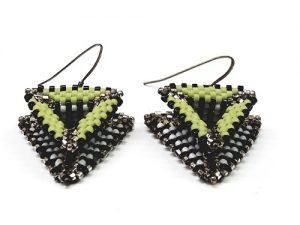 Raised Triangle Earrings
