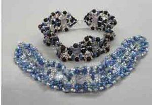 2-hole Cabochon Beaded Bracelet