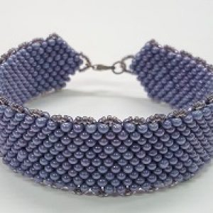 Peyote Stitch Bracelet with Peanut Beads