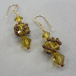 Swarovski-Cube-Earrings_CRAW_Beadology-Iowa
