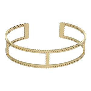 centerline scallop cuff