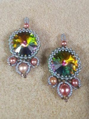 Embellished Crystal Beaded Earrings