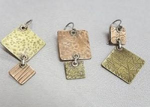 Cold Connections:  Riveted Dangle Earrings