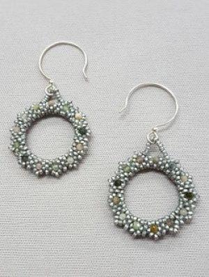 Gyrls Night Out:  Gemstone Circle Earrings