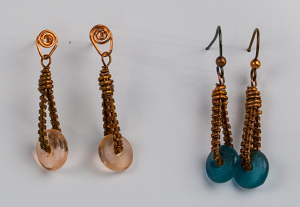 Wire Woven Loop Earrings