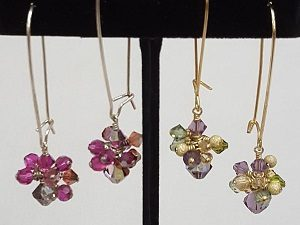 New Class!  Crystal Cluster Earrings--this class is full, please call to get on the waiting list.