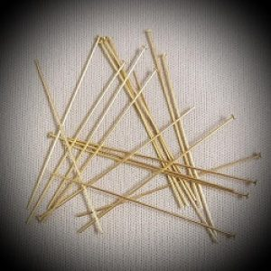 "2"" Medium (22gu) Gold Filled Headpin-20ct."
