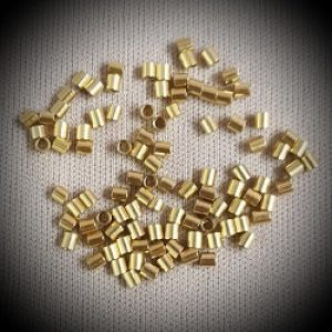 2x2mm Gold Filled Crimp Beads --100ct.