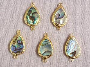 Abalone Brass Links