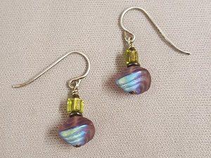 Czech Earring Kit--Purple Rainbow