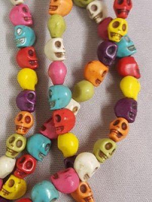 Magnesite Skull Beads