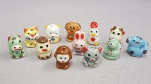 Chinese Zodiac Porcelian Beads