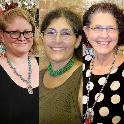 Beadology Iowa is staffed by Alyssa Jakowchuk, Karen Kubby, and Laurel Kubby.