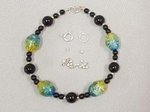 Crackle Bead Bracelet Kit