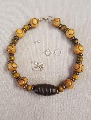Wood, Horn, and Brass Bracelet Kit