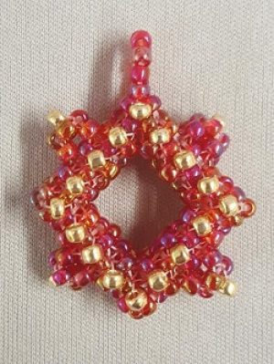Cubic Right Angle Weave Pendant Kit--Red