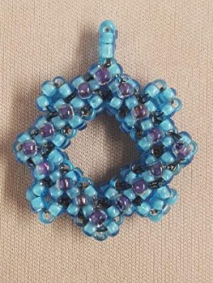 Cubed Right Angle Weave Pendant Kit--Blue